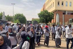 Des centaines d'étudiants soudanais réclament justice pour leurs camarades tués