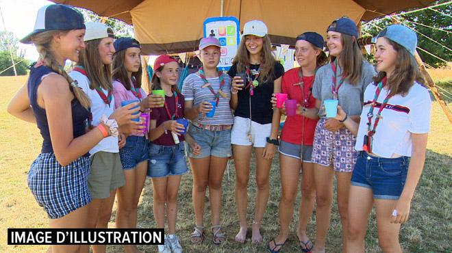 Exemple d'un camp de guides organisé contre la chaleur à Libramont: