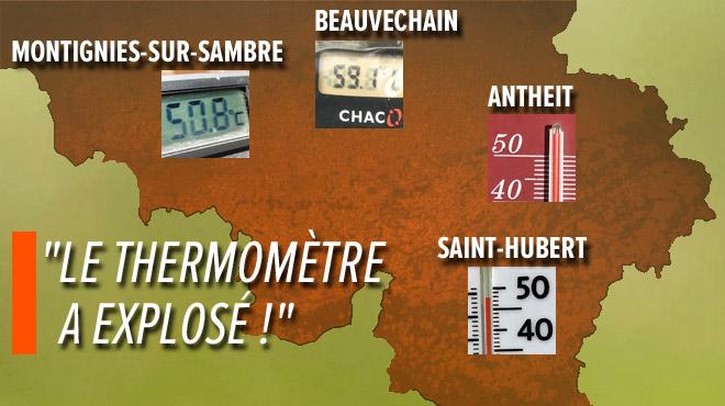Vague de chaleur: à l'ombre, au soleil, en voiture,... voici les photos de vos thermomètres