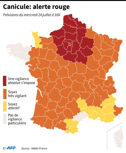 Vigilance rouge: un niveau d'alerte à la fois météo et sanitaire
