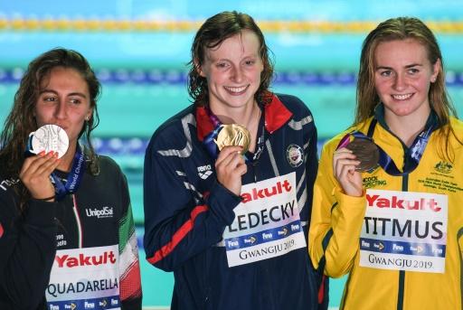 Mondiaux de natation: malade, Ledecky n'oubliera pas de si tôt son titre sur 800 m