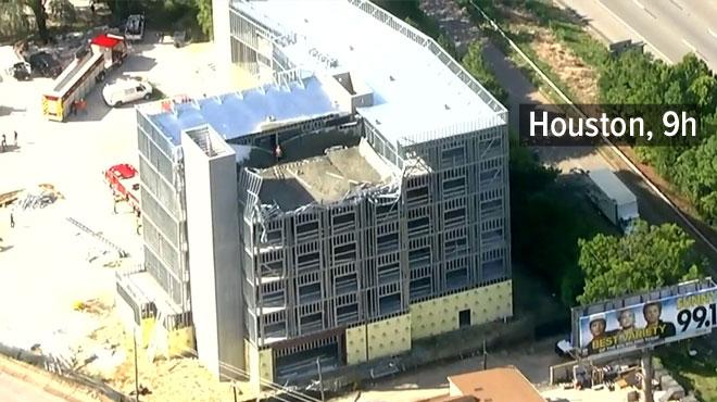 Le septième étage d'un immeuble s'effondre au Texas: 15 ouvriers à l'intérieur