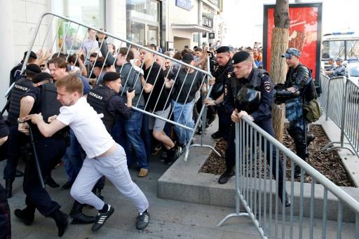 Les autorités russes haussent le ton avant une manifestation de l'opposition