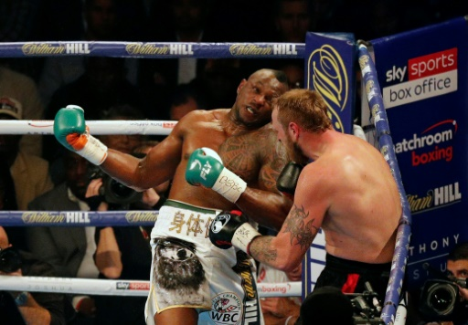 Dopage: le boxeur Dillian Whyte suspendu provisoirement par la WBC