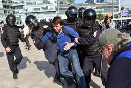 Les arrestations à Moscou
