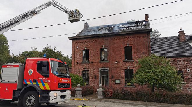 Violent incendie dans un restaurant à Mont-sur-Marchienne (photo)