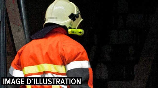 Schaerbeek: en pleine intervention, un pan de mur tombe sur un pompier