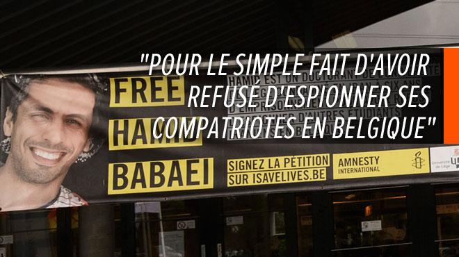 Hamid Babaei, doctorant de l'Université de Liège, a été libéré en Iran après avoir purgé sa peine