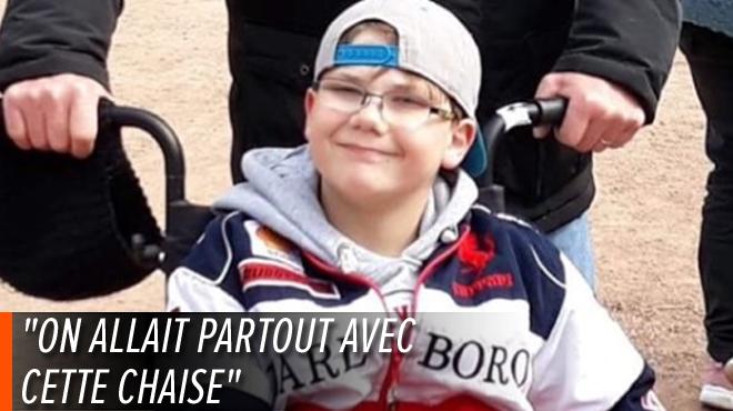 Le fauteuil roulant de Léo, 12 ans, VOLÉ alors qu'il mange une glace à Durbuy: