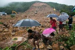 Glissement de terrain en Birmanie: au moins 22 morts, des dizaines de disparus