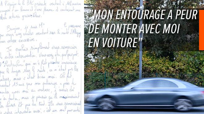 En France, un homme envoie une lettre de remerciement aux policiers qui l'ont arrêté pour excès de vitesse: