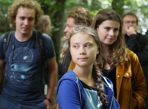 Climat: Greta Thunberg en visite surprise dans le bassin minier rhénan