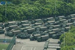 Mouvement de contestation à Hong Kong - Des forces chinoises rassemblées près de Hong Kong