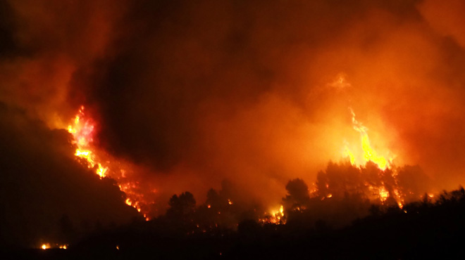 Important incendie dans l'Aude, en France: 500 pompiers mobilisés, 900 ha de forêts de pins détruits