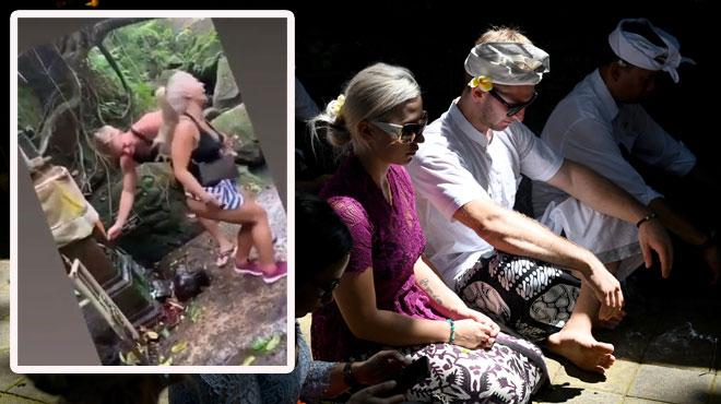 Un couple tchèque fait amende honorable après un incident dans un temple à Bali (vidéo)