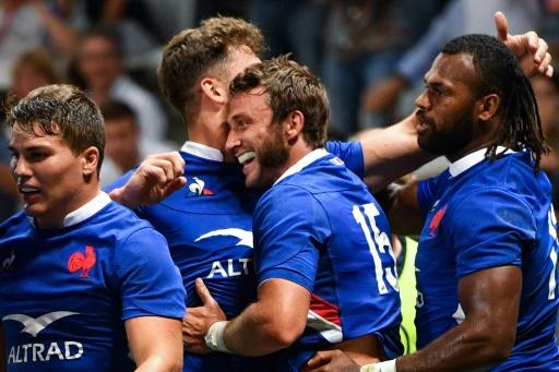 Préparation au Mondial-2019: la France mène largement à la mi-temps devant l'Ecosse (20-3)