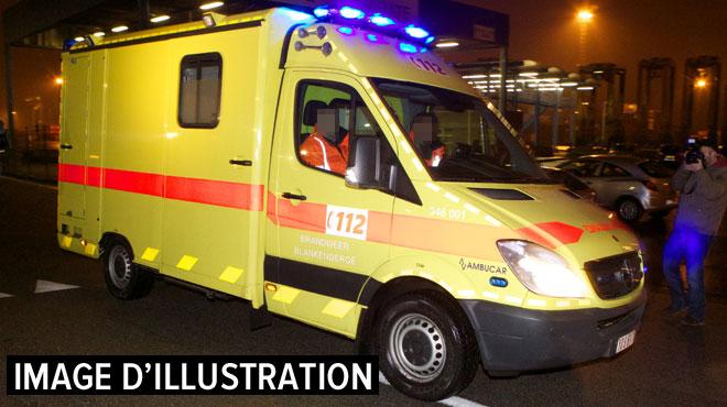 Accident à Huy: la victime est décédée sur le chemin vers l'hôpital