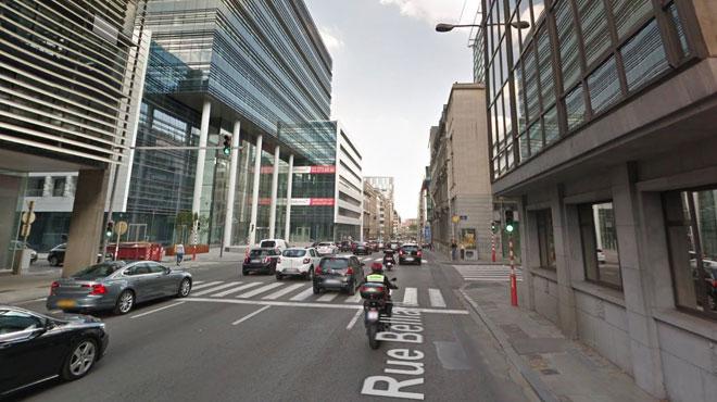 Affaissement de chaussée rue Belliard à Bruxelles: la circulation déviée