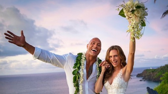 Dwayne Johnson s'est marié EN SECRET à Hawaï (photos)