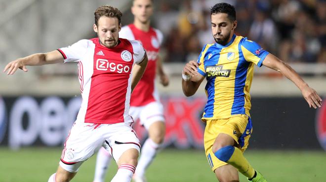 Barrages de la Ligue des Champions: l'Ajax échappe de peu à la défaite contre l'APOEL