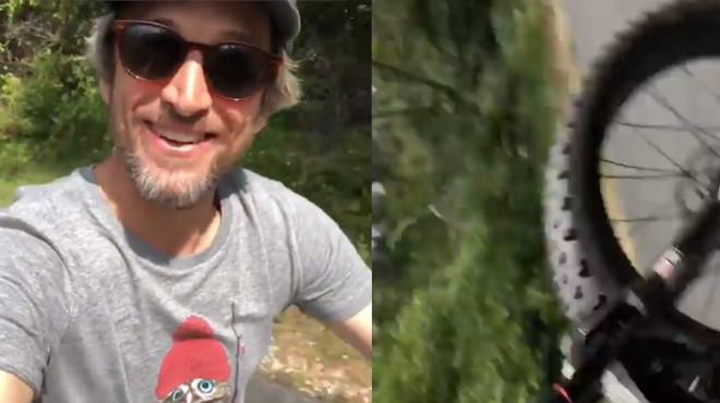 Guillaume Canet qui se casse la figure à vélo… un fake? La star fait beaucoup rire ses fans (vidéo)