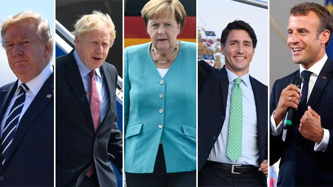 Début du G7 à Biarritz: les feux en Amazonie en toile de fond