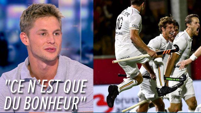 Une médaille en plastique, c'est ce qui fait la beauté du hockey- Victor Wegnez, champion d'Europe, se confie sur le plateau du RTL INFO 1