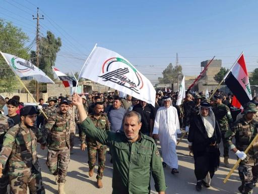 Irak: funérailles d'un paramilitaire tué dans une attaque