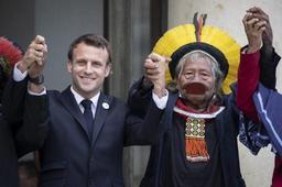 G7 Biarritz - Le président Macron a rencontré le chef Raoni à l'issue du G7