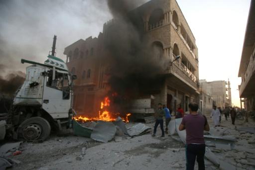 Syrie: les forces du régime progressent à Idleb après des raids meurtriers