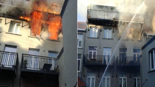 Important incendie à Ixelles: une opération particulièrement difficile pour les pompiers, une personne légèrement intoxiquée