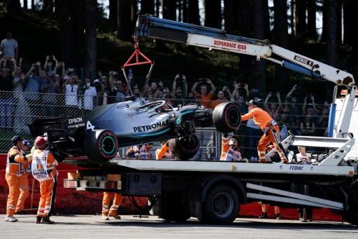 F1: Hamilton sort violemment lors de la 3e séance d'essais libres du GP de Belgiqe