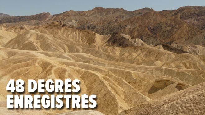 Aux USA, une femme succombe aux températures extrêmes dans la Vallée de la Mort