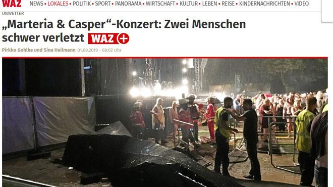 Des écrans s'effondrent lors d'un concert en Allemagne et blessent 28 personnes