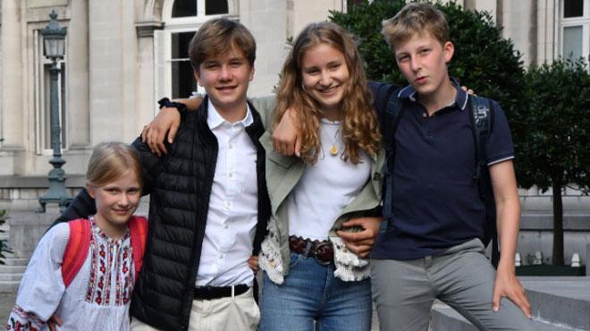 Les princes et princesses belges font aussi leur rentrée: le Palais royal dévoile des photos
