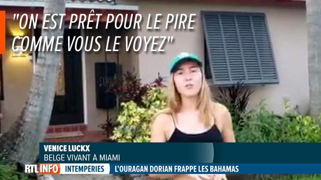 En Floride, une famille belge se prépare à l'arrivée du puissant ouragan Dorian: