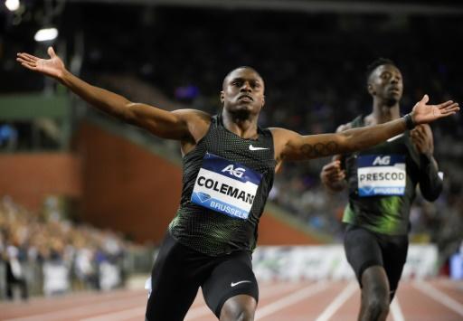 Athlétisme: blanchi par l'Usada, Christian Coleman verra bien Doha