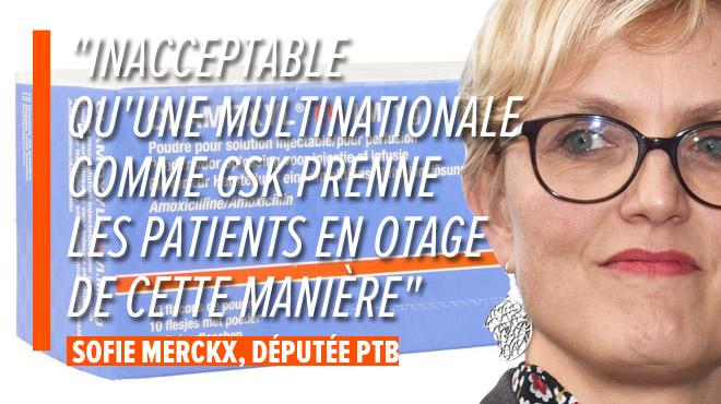 Le géant pharmaceutique GSK ne fournit plus à la Belgique que la moitié de la quantité nécessaire de Clamoxyl IV, un antibiotique très important