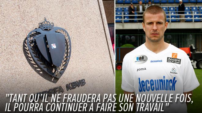 Impliqué dans le scandale dans le foot belge, Thomas Troch va rependre son boulot d'agent de joueurs