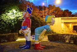 Des statues à l'effigie de Godaille et Madame Sans-Gêne inaugurées à Tamines