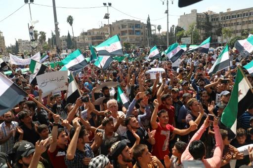 Syrie: manifestations à Idleb contre le régime et son allié russe