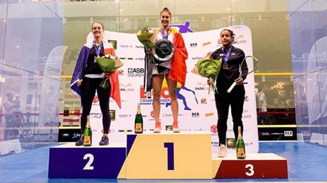 Une Belge devient championne d'Europe de squash