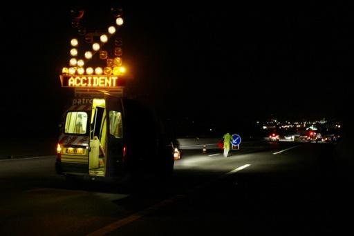 Accident dans la Drôme: un mort et trois blessés, l'autoroute A7 coupée plusieurs heures