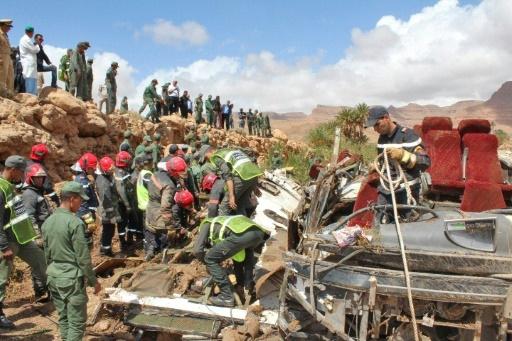 Inondations au Maroc: 17 morts dans l'accident d'un bus emporté par une crue