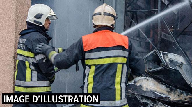 Saint-Vith: une menuiserie ravagée par les flammes