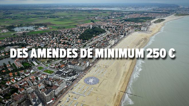 Attention si vous vous rendez à Knokke-Heist: la commune établit une nouvelle liste d'infractions punissables