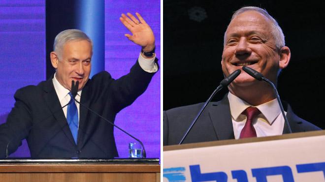 Elections en Israël: le Premier ministre Netanyahu et son rival Gantz à égalité, la formation d'un gouvernement s'annonce compliquée