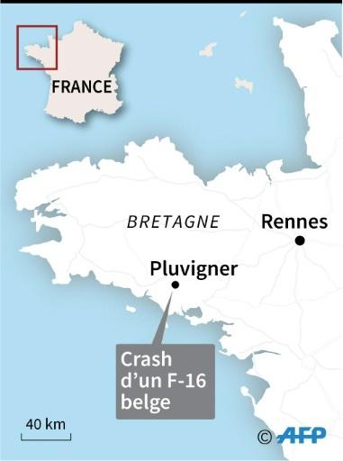 Un F-16 belge s'écrase dans le Morbihan: les deux pilotes en vie