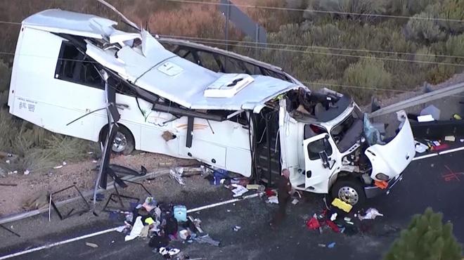 Un bus transportant des touristes dérape sur une route dans l'Utah: 4 morts et 26 blessés