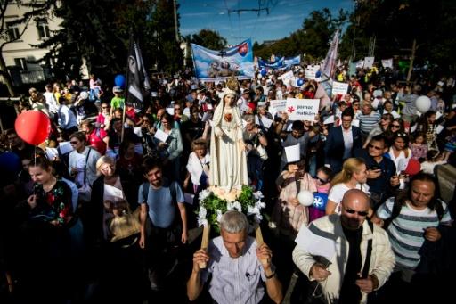 Importante manifestation anti-avortement en Slovaquie